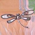 Animais Abalone Shell Dragonfly de chapéu acessórios cachecol clipe ombro decoração do Vintage jóias Anti prata broche Pin reino unido