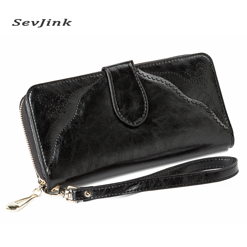 Hot Fashion Female wallets High-quality PU Leather Wallet Women Long Style Cowhide Purse Brand Capacity Clutch Card Holder Pouch  new fashion female wallets smooth leather wallet women candy color long change purse brand clutch card holder pouch carteras