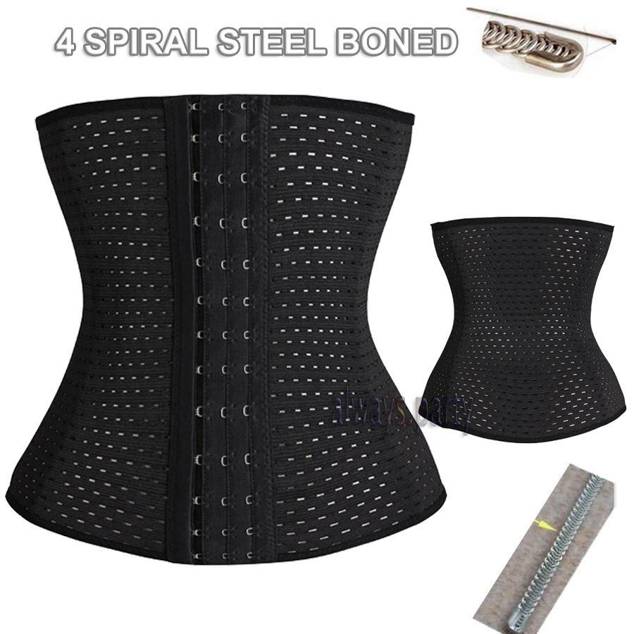 0623c5a2784 waist trainer waist training corsets body shaper fajas fajas reductoras  girdle control cincher shapers(4 sprial Steel Bone)  89-in Waist Cinchers  from ...