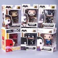 POP Justice League Super hero Wonder Frau Aquaman Die Flash Superman Batman Modell Abbildung Sammlung Modell Spielzeug Kostenloser versand