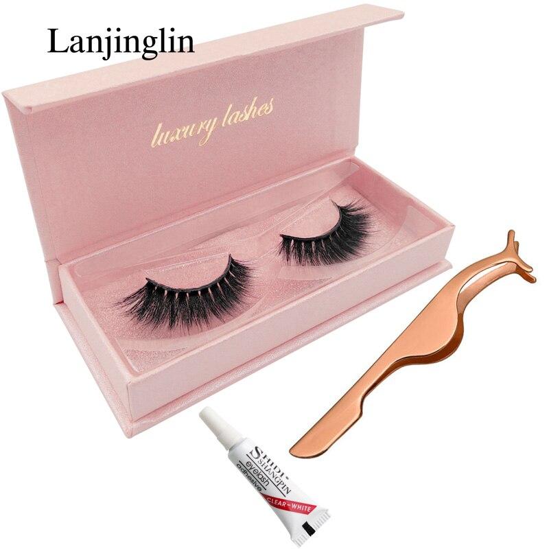 LANJINGLIN Long False Eyelashes Natural Makeup 3d Mink Lashes Thick Fake Eyelash Extension Strip Mink Eyelashes Make Up Lash