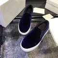 2017 Brand New Women's Velvet Shoes Lady Flat Slip on Casual Loafers Red Blue Black Girl Ladies Flats Shoes Size 34-43