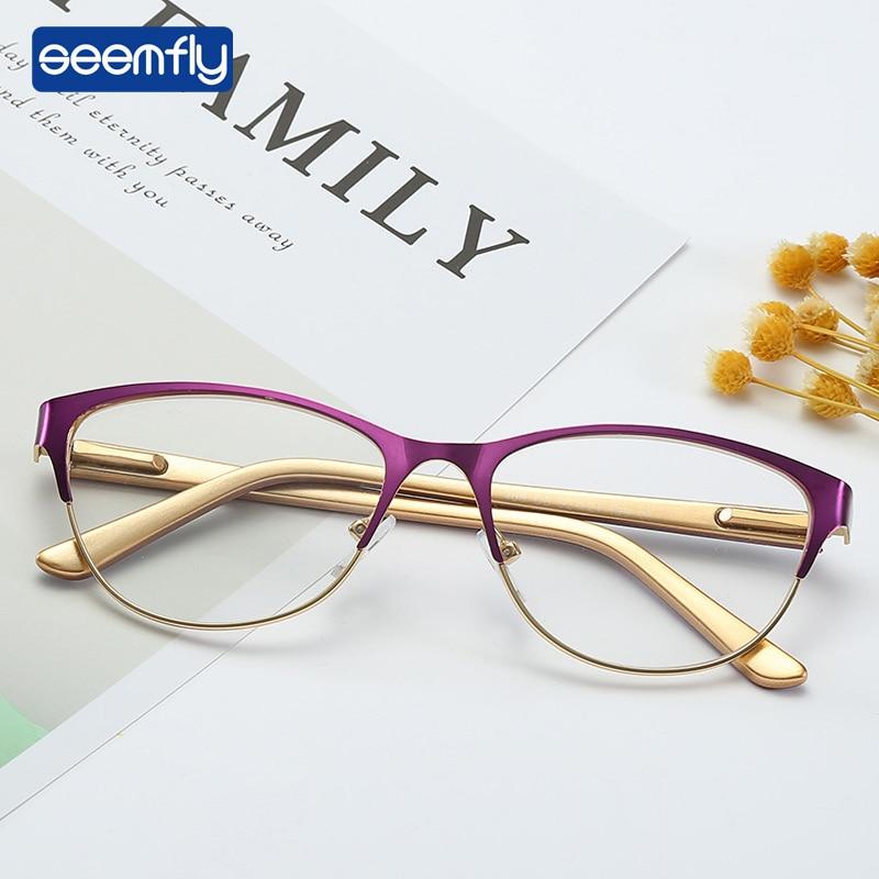 Seemfly New Ultralight Vintage Reading Glasses Women Men Round Frame Elderly women Eyeglasses Antifatigue Computer Eyewear