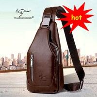 Men S Shoulder Bag Breasts Single Shoulder Bag Belt Back Bag PU Travel Men Crossbody Bags