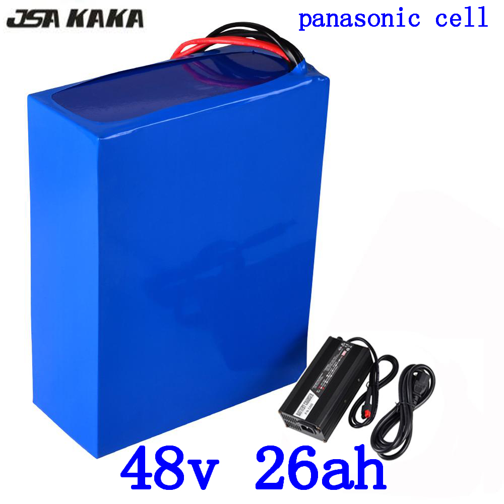 48V 1000W 2000W battery 48V 26AH electric bike battery 48v 26ah lithium ion battery use panasonic cell with 54.6V 5A charger 48V 1000W 2000W battery 48V 26AH electric bike battery 48v 26ah lithium ion battery use panasonic cell with 54.6V 5A charger