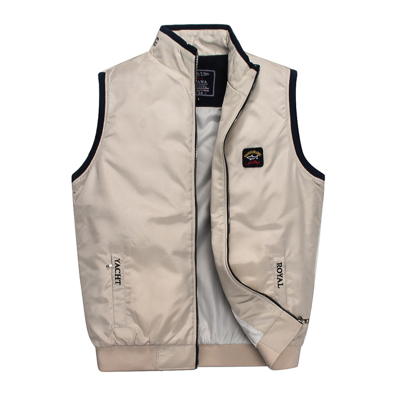 mens vest Brand clothing Tace&shark Mens coat vest Hooded Vest Leisure Rich billionaire