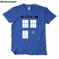 Doctor Who 2017 new arrival mens 3D printed T shirt tee Tardis O-neck Big Size T-shirts soft Euro size tops Fashion style S-XXXL
