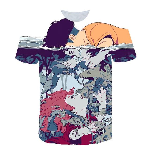 New summer 3D short sleeve T-shirt Japanese cartoon casual short sleeve 3DT T-shirt manufacturers direct sales