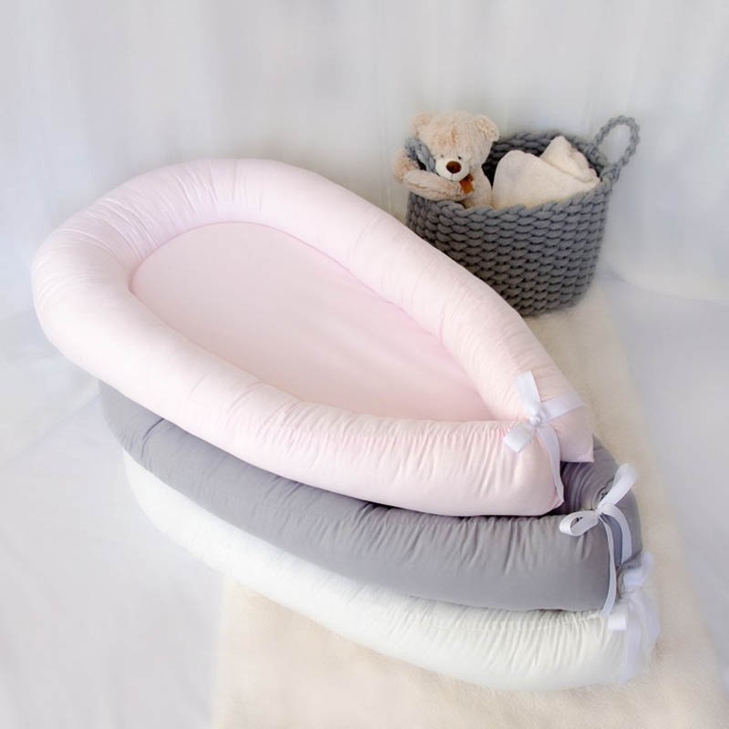 Pure Cotton Crib Bed Portable Removable Washable Quilt Baby Bed Newborn Bionic Bed Full Detachable Design For Baby Or Newborn