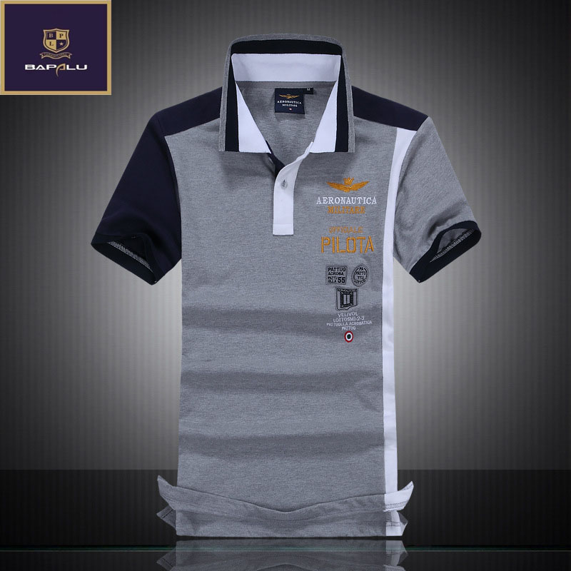 summer new   Polo   shirt men boutique embroidery breathable 100% cotton   polo   shirt Men's lapel Splice Casual   polo   shirt