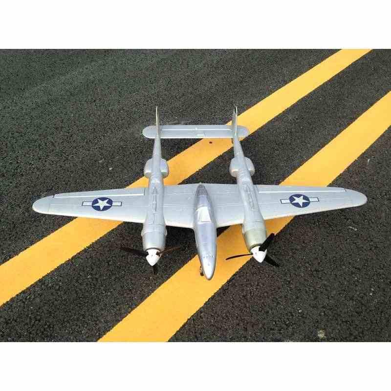 MD P38 1200mm rozpiętość skrzydeł epo RC samolot Lockheed P-38 oświetlenie Zoom zestaw samolotów tylko puszczania samolotów podwójna moc RC samoloty