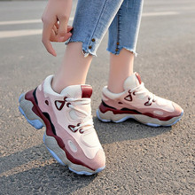 Women Casual Shoes Mesh Women Chunky Shoes Platform Lace-Up Breathable Women Increased Outdoor Shoes Woman 2019 New Spring Hot