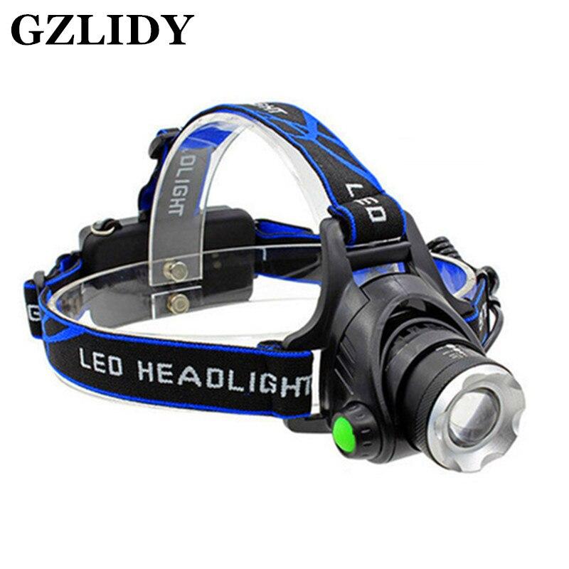 RU 5000LM Cree XML-L2 XM-L T6 Led Scheinwerfer Zoomable Scheinwerfer Wasserdicht Stirnlampe taschenlampe stirnlampe Angeln Jagd Licht