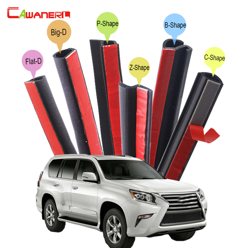 Cawanerl Full Car Hood 4-Door Trunk Rubber Weatherstrip Sealing Seal Strip Kit Seal Edge Trim For Lexus GX GX460 GX470