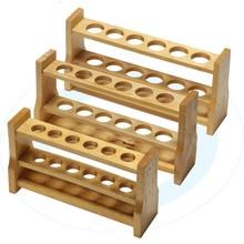 Высококачественная деревянная стойка для пробирок, цветная стойка для пробирок 6 и 12 отверстий 10 мл 25 мл 50 мл 100 мл