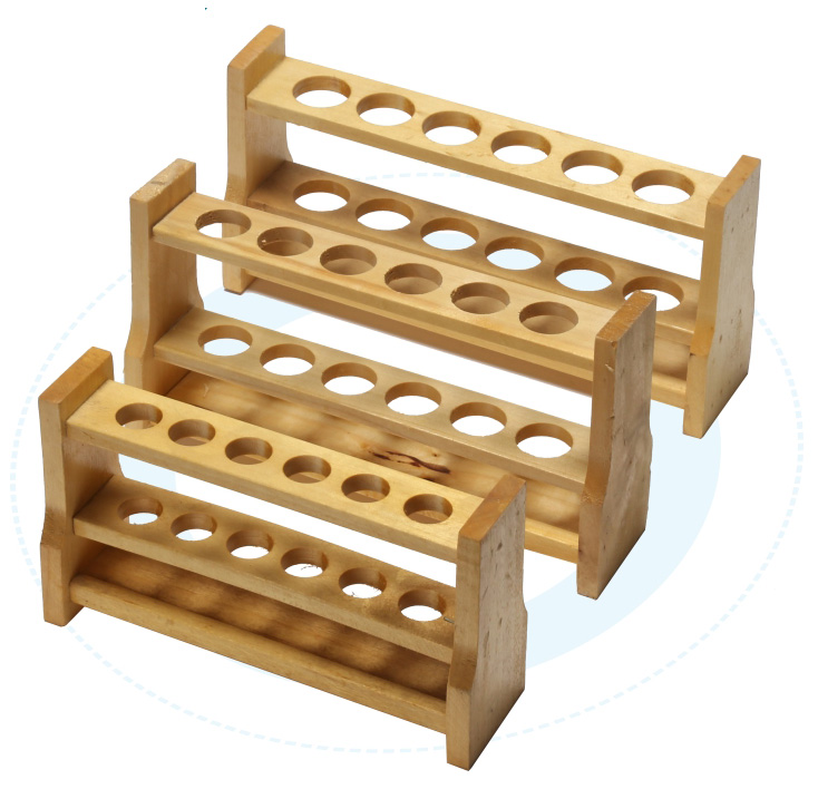 high quality Wooden test tube rack Color tube rack 6 and 12 holes 10ml 25ml 50ml 100ml free shipping high quantity medicine detection type blood and marrow test slides
