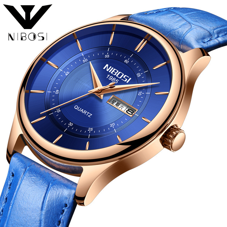 Men's Trend Solar Watch Waterproof Double Butterfly Button Solid Steel Band Watch