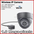 El envío gratuito! H.264 ONVIF 720 P cámara ip módulo wifi incorporado antena 2db Mini Domo de Cámara Web inalámbrica para uso de vivienda
