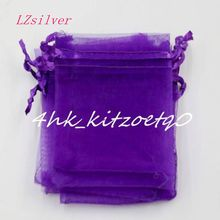 500pc 7x9cm etc. Drawstring Organza Jewelry Pouches Christmas Favor Gift Bag L0222