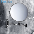 2014 Oral Hygiene Shaving Bathroom Mirror Wall Mounted Stainless Steel 8 Inch Double Cosmetic Mirror(1:1 And 1:3) free Shipping