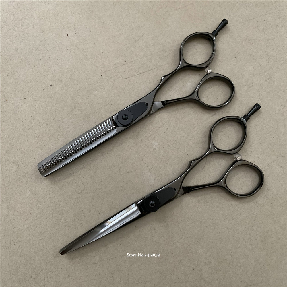 """Japan Hot """"H S"""" Professional Hair Cutting Thinning Scissors Set 440c High Quality Barber Shop Hairdressing Salon Shears H 31-in Hair Scissors from Beauty & Health    1"""