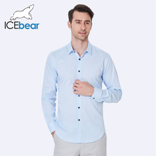 ICEbear 2017 Лето тонкая воздухопроницаемая синяя рубашка для мужчины одежда высокое качество тонкий классический бизнес мужские футболки CD106D(China (Mainland))