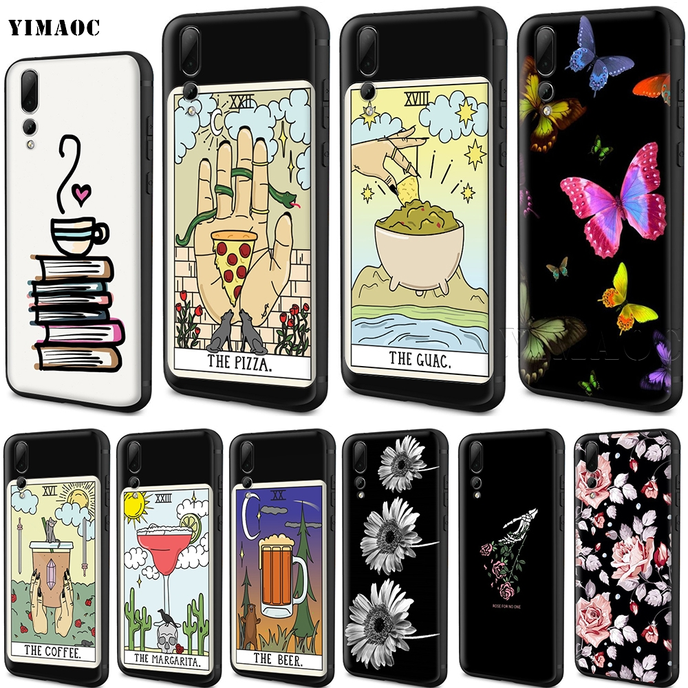 US $2 5 24% OFF|YIMAOC Coffee Wine Pizza Reading Silicone Case for Huawei  Mate 10 P8 P9 P10 P20 Lite Pro P Smart Mini 2017-in Fitted Cases from