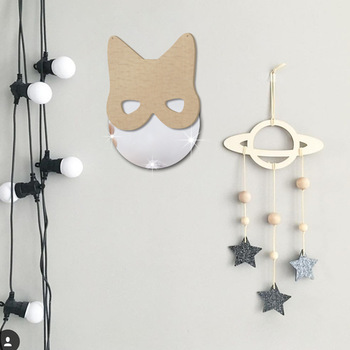 Wall Mirror Set | Funlife Fox Wall Decoration Mirror Ins Nordic Children's Room European Acrylic Decorative Mirror Wall Stickers 5 Sets Of HM006