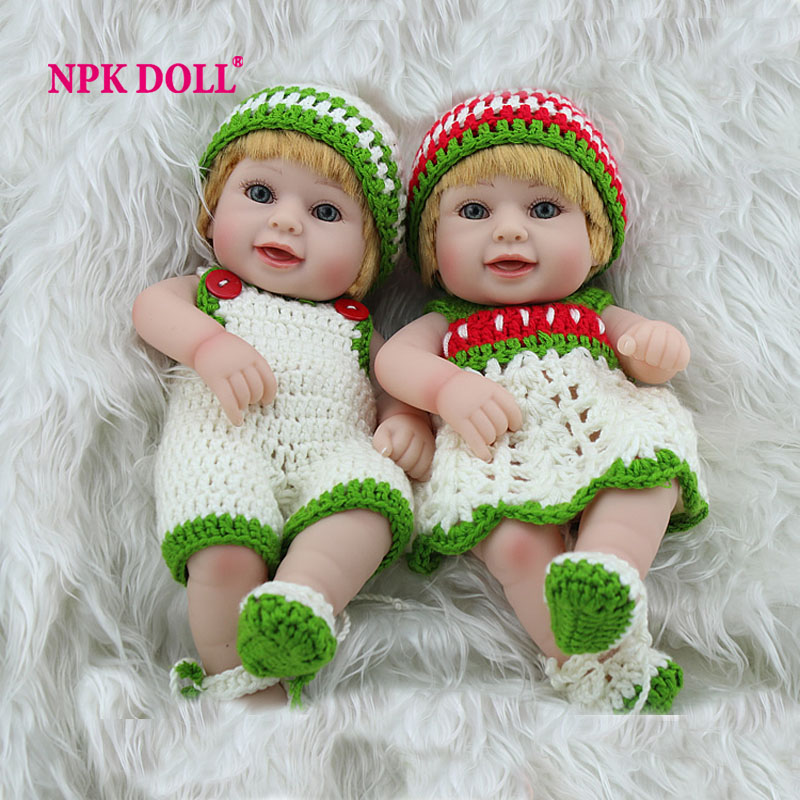 Reaalistic Reborn Babies Doll Full Vinyl Toys For Girls Newborn Boy And Girl Twins Handmade Clothes Christmas Gifts By NPK DOLL