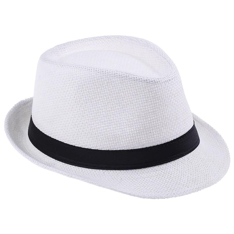 Хит модных продаж унисекс Fedora Мужская Гангстерская шляпа Кепка для женщин Летняя Пляжная шляпа соломенная шляпа-Панама мужские модные крутые шляпы розничная