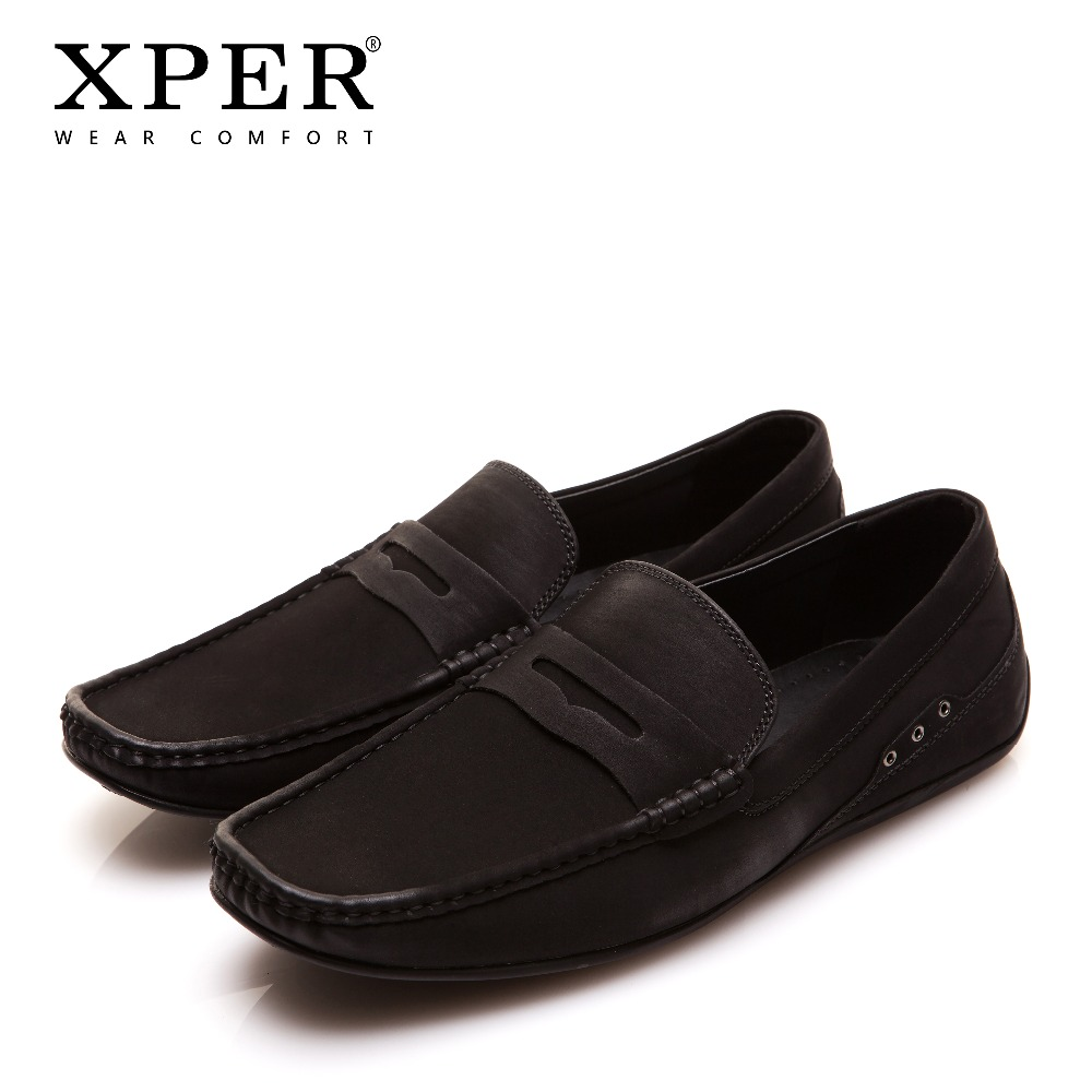 70b1430757 Mocassins moda Masculina Desgaste Conforto Sapatos de Condução Suave Slip  On Apartamentos Masculinos Marrom Não Couro Sapatos Casuais XPER marca ...
