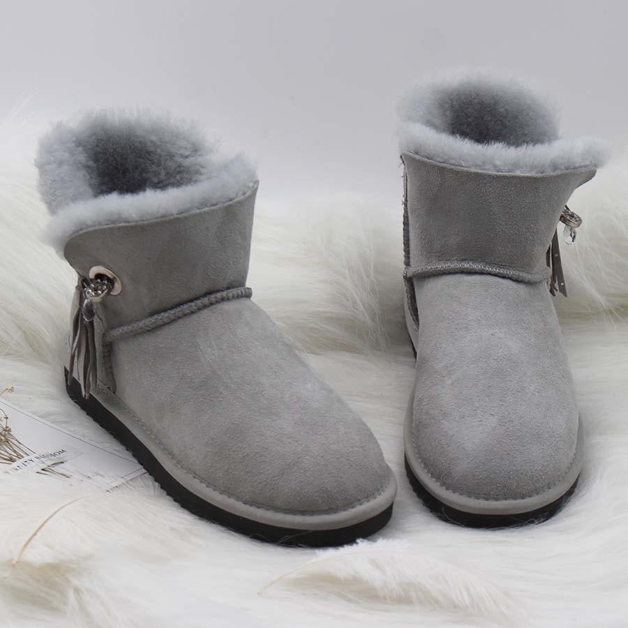 Vente chaude Australie Classique Femmes Bottes 100% Véritable peau de Mouton En Cuir de Neige Bottes Femmes Chaussures Chaud Naturel De Fourrure Bottes D'hiver