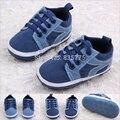 2015 De La Moda Guapo Bebé Infantil Chicos Primeros Caminante Cordones Deportes Shose Bebé Bebe Niño Inferior Suave Calzado antideslizante