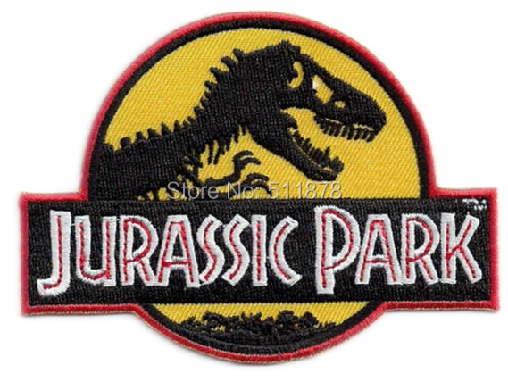 4 Jurassic Park Prop Themepark YELLOW Logo Movie TV Series Costume Cosplay Embroidered Emblem applique iron