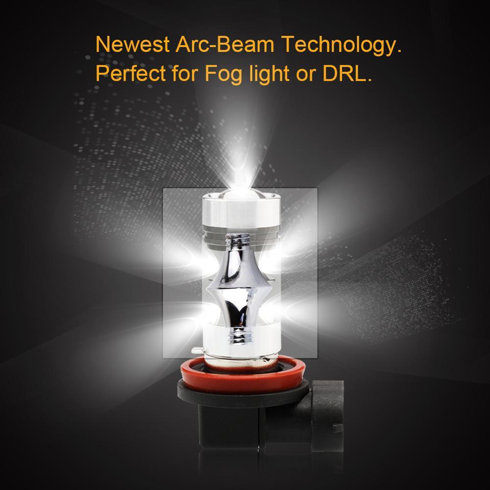 Image 3 - 2pcs H11 H8 LED Fog Light Bulbs 9005 HB3 HB4 9006 Car LED Running Lights Auto Driving Lamp 12V  6000K White-in Car Headlight Bulbs(LED) from Automobiles & Motorcycles