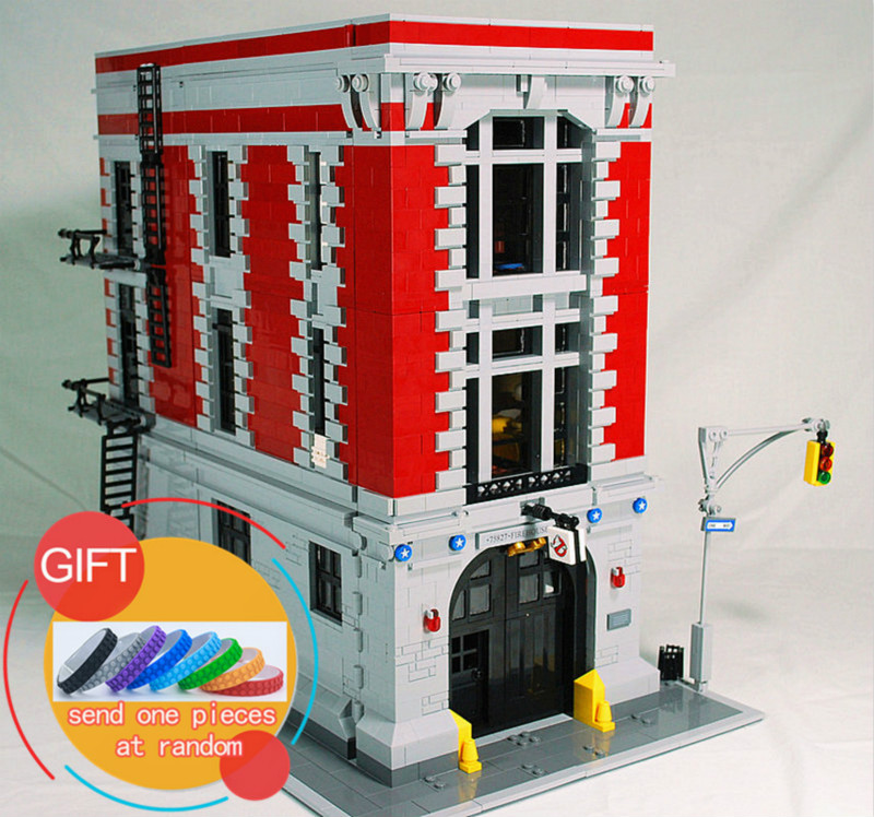 16001 4695Pcs Ghostbusters Firehouse Headquarters set Compatible with 75827 Building Kits Model Blocks For Children Toys 4695pcs lepin 16001 city series firehouse headquarters house model building blocks compatible 75827 architecture toy to children