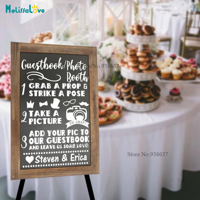 Guest Book Photo Booth Customized Name Cute Design Wedding Reception