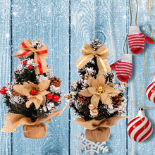 christmas decorations for home 2018 Mini Christmas Tree White Needle Pine Cones for Party noel Decoration Natal
