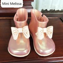 Mini Melissa Original Bow Girl Rain Boots 2019 Girls Water Shoes Baby Waterproof Toddler 13.8cm-17.8cm