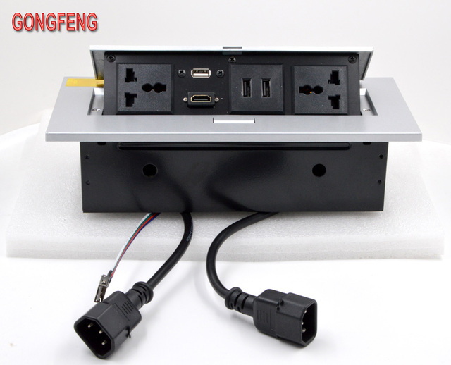 GONGFENG New Custom Multimedia Desktop Universal Power Jack HDMI - Multimedia conference table