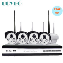4ch wireless 720P HD IP Camera NVR cctv security system outdoor P2P Night vision WIFI ip Camera home video surveillance kit