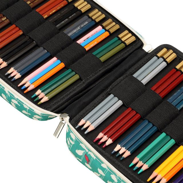 hot-150 Slots Colored Pencils Universal Pencil Bag Pen Case School Stationery PencilCase Drawing Painting Storage Pouch Pencil 3