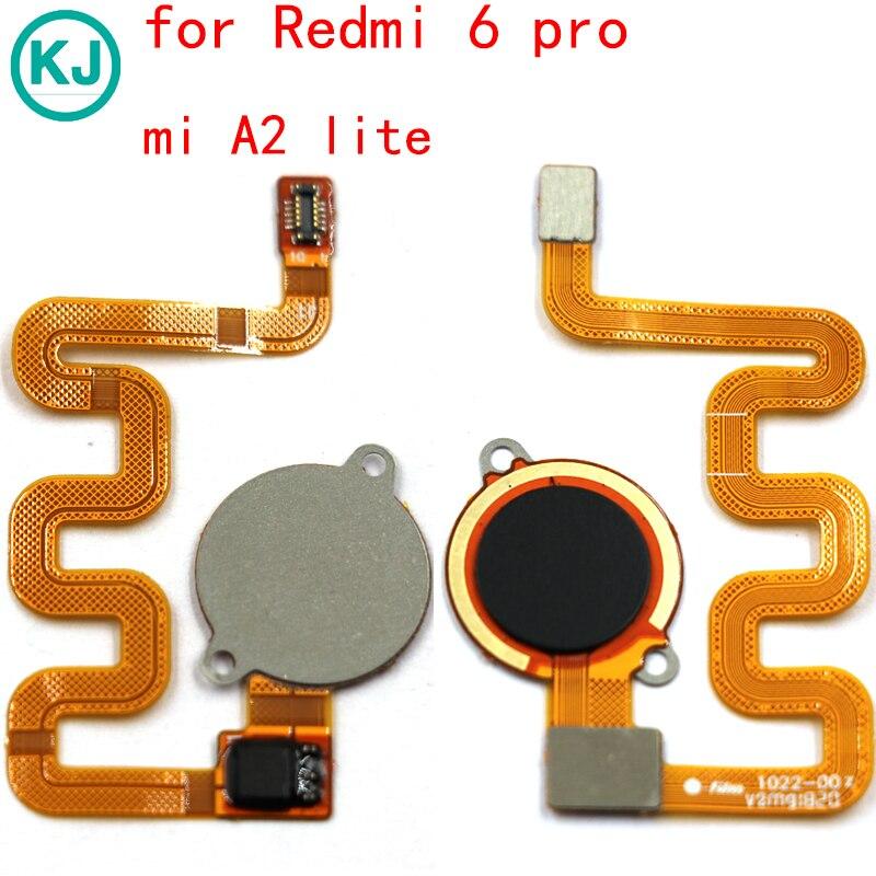 Original Redmi 6 Pro Fingerprint Sensor Ribbon For Xiaomi Mi A2 Lite Home Button Identification Flex Cable Original Redmi 6 Pro Fingerprint Sensor Ribbon For Xiaomi Mi A2 Lite Home Button Identification Flex Cable