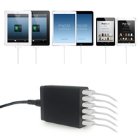 5v10a ausgang 6 usb quick ladegerät eu/us/uk/australischen stecker adapter für samsung, Android handys, für iphone, für ipad