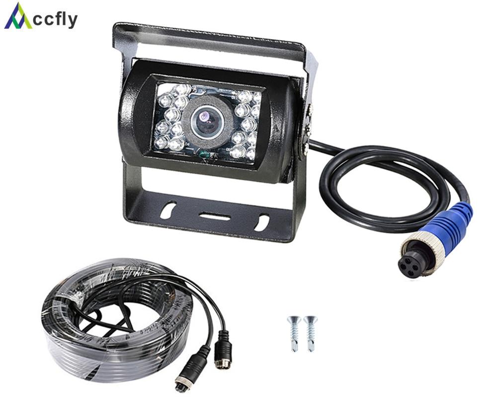 Accfly-AHD 1080p SONY CCD caméra de sauvegarde voiture   4 broches, vue arrière inversée pour camions, bus caravane camping-remorque pelle RV