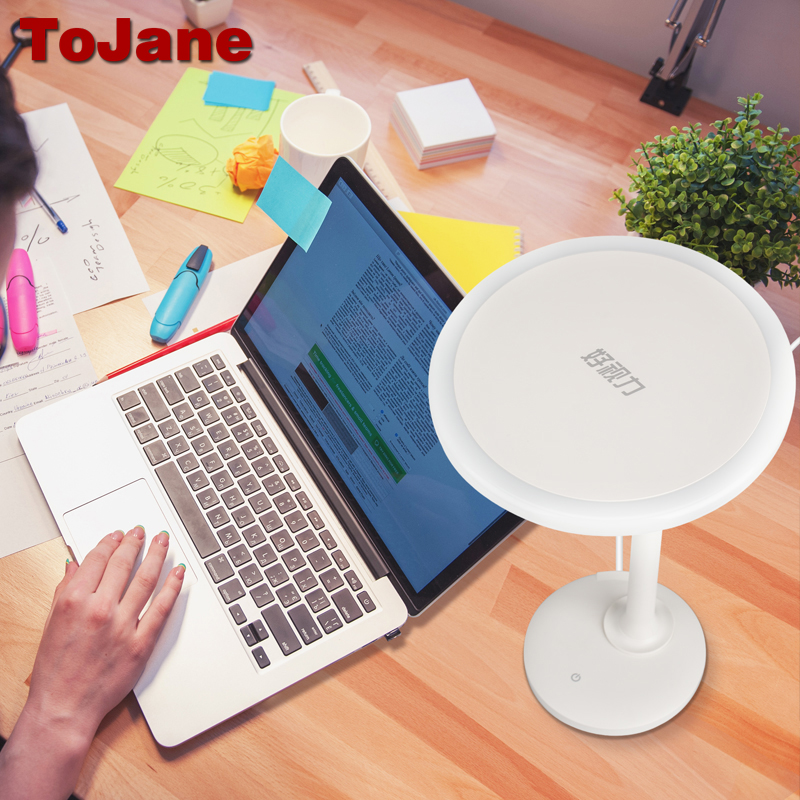 ToJane TG025 lampes de table LED moderne USB lampe de bureau enfants ampoule LED lampe d'étude Dimmable CCC lampe à LED