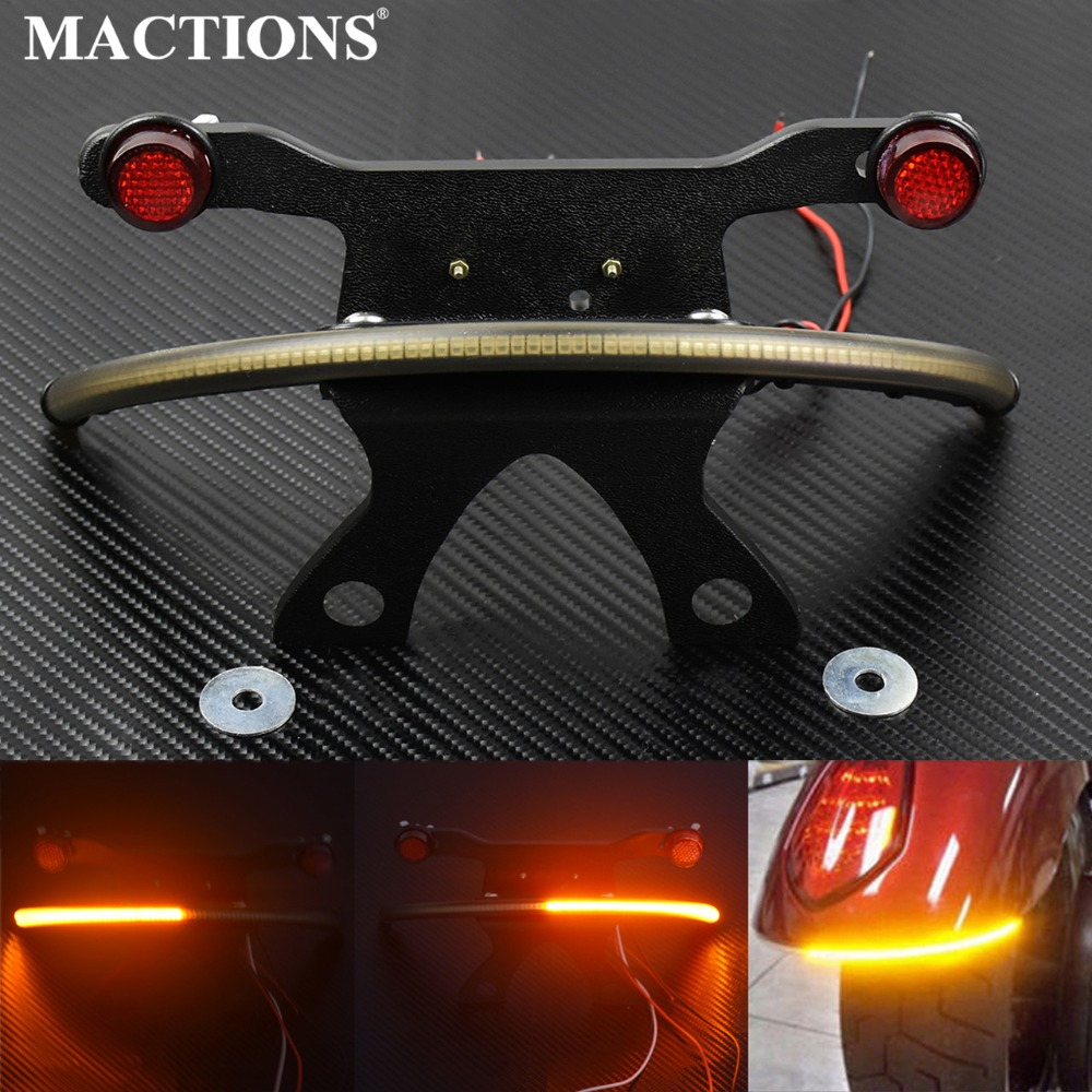 Motorcycle Parts LED Fender Amber Smoked Lens Tail Light Bracket For Victory Vegas 2003-2014 2015 2016 2017 night rod led tail light