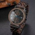 Мужские часы BOBO BIRD  деревянные кварцевые часы японского бренда  Прямая поставка