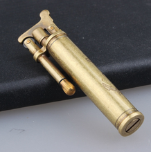 Mini Pure Copper Mens Smoking Lighters Tobacco Cigarette Kerosene Lighters Creative Portable Grinding Wheel Ciagr Lighters
