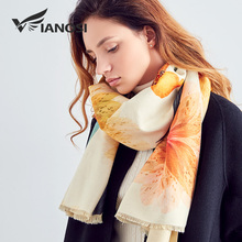 [VIANOSI] Neueste Design Bandana Winter Schal Frauen Schals Verdicken Warme Schals Wolle Marke Schal Frau Wrap Druck Hijab